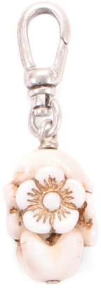 Lulu Frost Antique Milk Glass Floral Charm