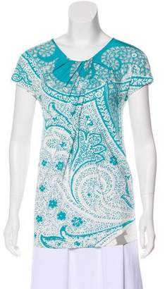 Etro Printed Short Sleeve Blouse