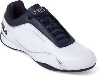 Fila White & Navy Kalien Motorsport Low-Top Sneakers