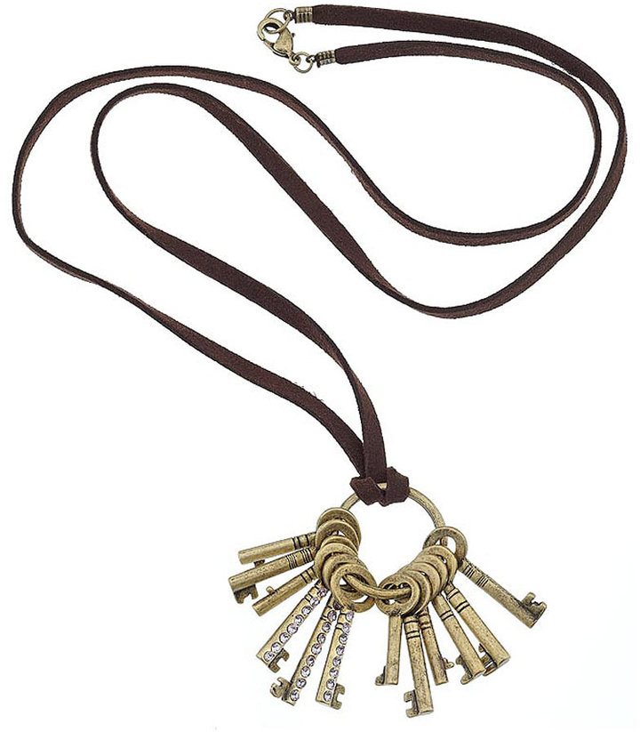 Hoop and Keys Necklace