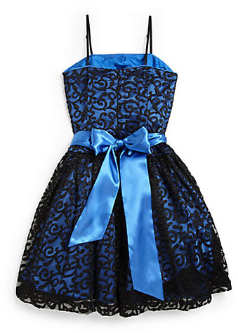 Un Deux Trois Girl's Lace Party Dress
