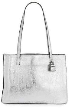 DKNY Metallic Leather Commuter Tote