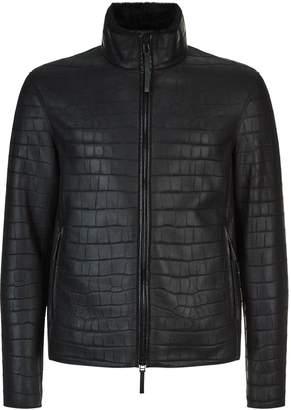 Emporio Armani Leather Shearling Jacket