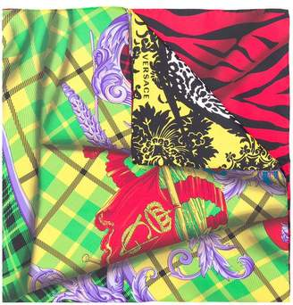 Versace mesh pattern square scarf