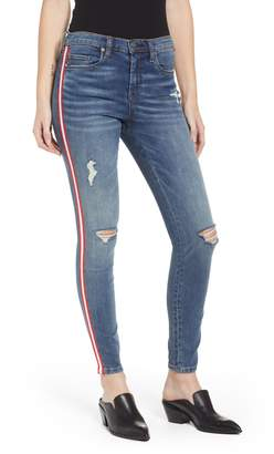Blank NYC BLANKNYC Side Stripe Ripped Ankle Skinny Jeans