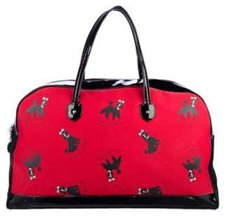 Lulu Guinness Canvas Travel Tote black Canvas Travel Tote