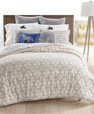 Martha Stewart Collection Geo Clip Bedding Collection, Created for Macy's