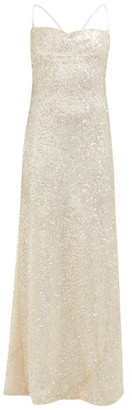 Galvan Whiteley Sequinned Maxi Dress - Womens - Ivory