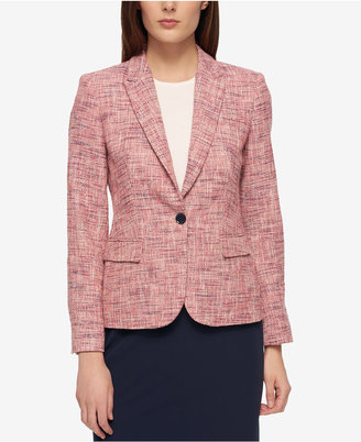Tommy Hilfiger Tweed Elbow-Patch Blazer $139 thestylecure.com
