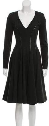 Plein Sud Jeanius V-Neck A-Line Dress