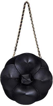 One Kings Lane Vintage Chanel Rare Leather Camellia Evening Bag - Vintage Lux