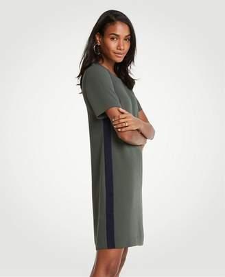 Ann Taylor Petite Striped Side T-Shirt Dress