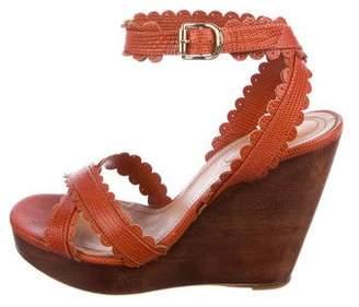 See by Chloe Embossed Wedge Sandals