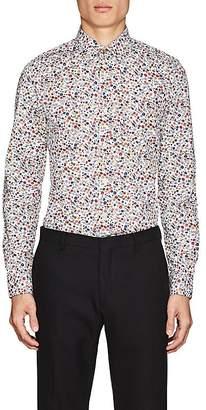 Paul Smith Men's Floral-Print Cotton Shirt