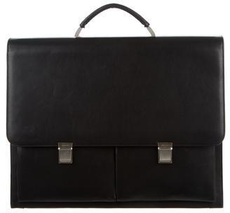 BallyBally Flap Leather Briefcase