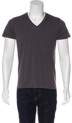 Barneys New York Barney's New York Woven V-Neck Shirt