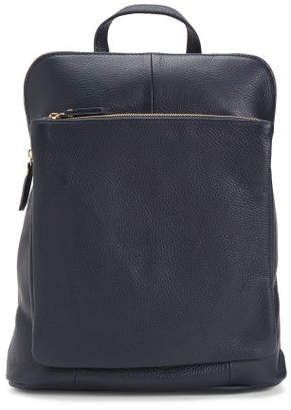 Made In Italy Convertible Leather Backpack