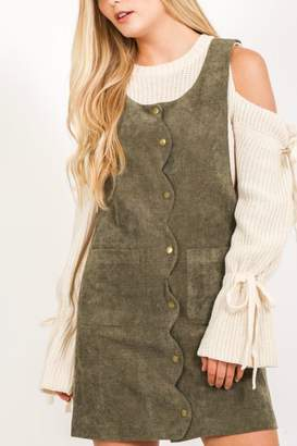 Love Stitch Olive Corduroy Dress