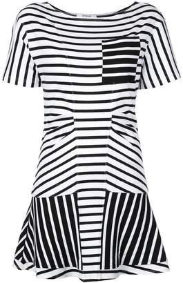 Derek Lam 10 Crosby Short Sleeve Crewneck Dress with Flared Skirt