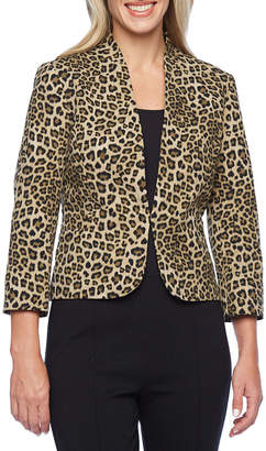 Evan Picone BLACK LABEL BY EVAN-PICONE Black Label by Evan-Picone Leopard Print Suit Jacket
