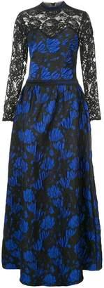 Tadashi Shoji lace embroidered maxi dress