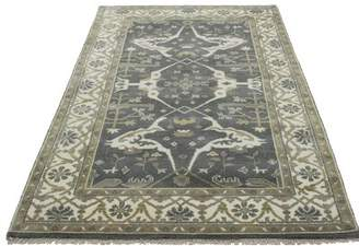 """Charlton Home One-of-a-Kind Schurman Indian Hand-Knotted 5' x 8'2"""" Wool Dark Taupe Area Rug Charlton Home"""
