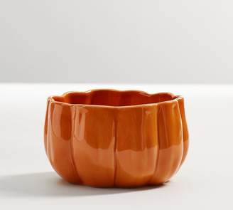 Pottery Barn Rustic Pumpkin Snack Bowl - Orange
