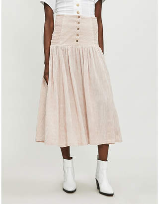 Free People Ocean Eyes cheesecloth maxi skirt