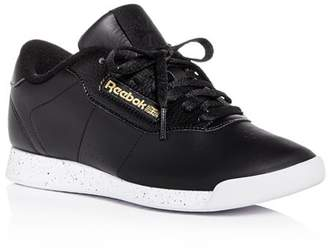 Reebok Women's Princess Leather Lace-Up Sneakers