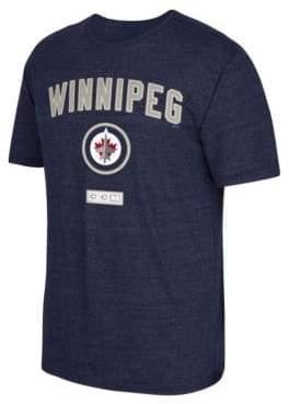 Reebok Winnipeg Jets Stitches Needed Tri-Blend T-Shirt