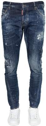 DSQUARED2 16cm Sexy Twist Denim Jeans W/ Bandana