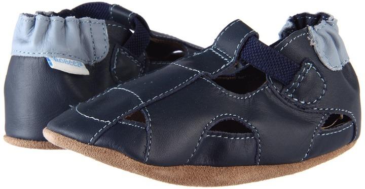 Robeez Fisherman Sandal (Infant/Toddler) (Navy) - Footwear