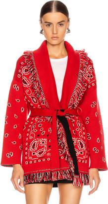 Alanui Bandana Cardigan in Red | FWRD