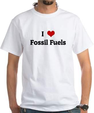 Fossil CafePress - I Love Fuels - 100% Cotton T-Shirt