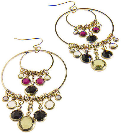 Exotic double-hoop earrings