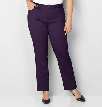 Avenue Butter Denim Straight Leg Jean in Plum