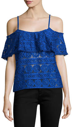 Plenty by Tracy Reese Cold-Shoulder Lace Top