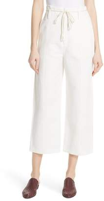 Vince High Rise Linen Cotton Crop Pants