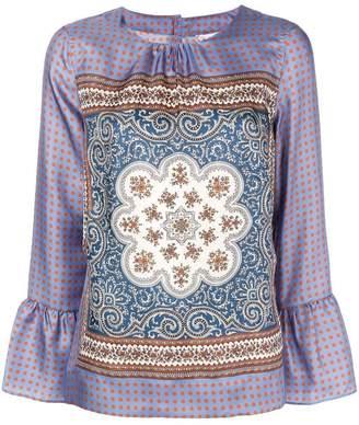 Le Sarte Pettegole baroc pattern blouse