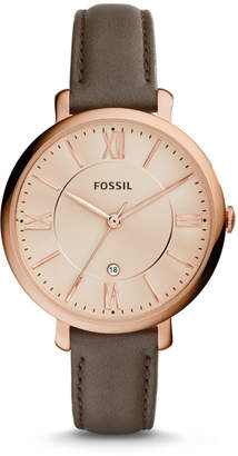 Fossil Jacqueline Gray Leather Watch