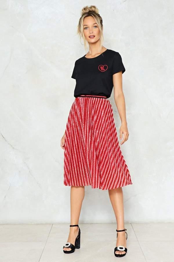 nastygal A Twist of Fate Midi Skirt