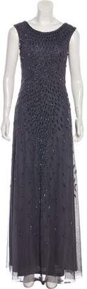 Aidan Mattox Embellished Maxi Gown