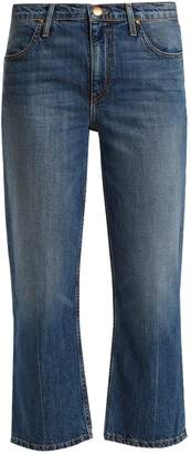 The Relaxed Nerd mid-rise kick-flare jeans