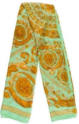 Versace Wool Printed Scarf
