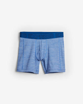 Express Blue Performance Mesh Boxer Briefs