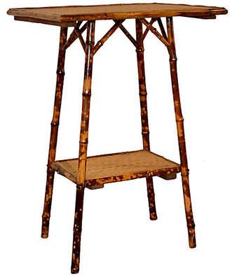 One Kings Lane Vintage Art Nouveau Bamboo Side Table - Black Sheep Antiques