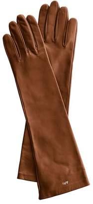 Mark And Graham Women's Italian Leather Opera Gloves, Jewel-Toned