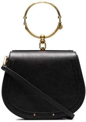 Chloé black Nile medium leather bracelet bag