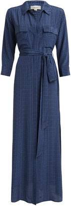 L'Agence Cameron Houndstooth Shirt Dress