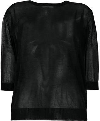 Zanone sheer fitted top